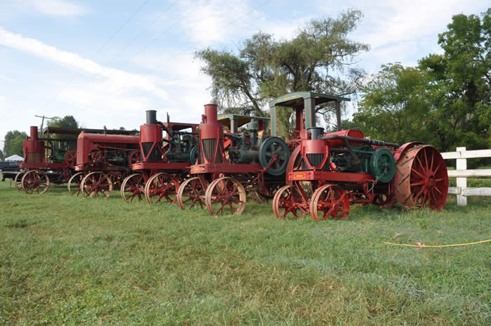 Lineup of Avery tractors, built in Peoria, IL.